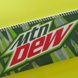 MOUNTAIN DEW spiral bound notbook journal Recycled Eco friendly